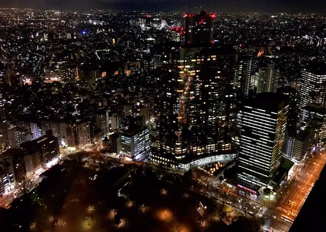Night view from Tokyo Metropolitan Government