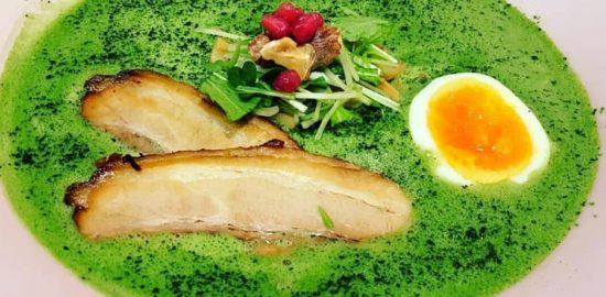 メンショー抹茶鶏白湯らぁめん980円
